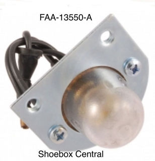 FAA-13550-A 1952 1954 Ford License Plate Light Assembly
