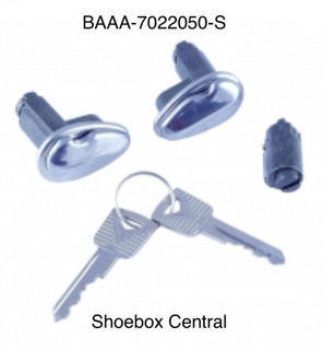 BAAA-7022050-S 1952 1954 Ford Ignition Lock Set