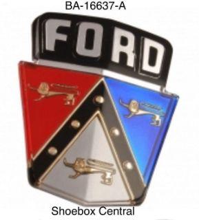 BA-16637-A Ford Hood Emblem