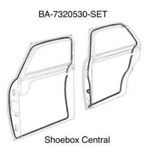BA-7320530-SET 1952 1953 1954 Ford 4 Four Door Rubber Weatherstrip Seal Kit