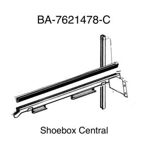 BA-7621478-C 1952 1953 1954 Ford Victoria Convertible Lower Glass Channel to Door Glass Rubber Seal