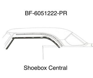 BF-6051222-PR 1952 1953 1954 Ford Victoria Roof Rail Rubber Weatherstrip Seals