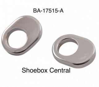 BA-17515-A 1952-1954 Ford Windshield Wiper Pivot Shaft Bezels