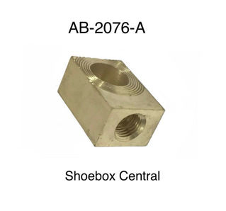 AB-2076-A 1952 1953 1954 Ford Brake Master Cylinder Junction Block Brass Fitting