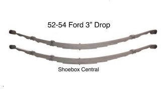 302 1952 1953 1954 Ford Car Lowered Low Lowering Drop Dropped Leaf Spring Springs