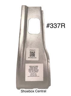 #337R 1952 1953 1954 Ford Right Hand Passenger Side Lower Front Inner Fender Brace Support