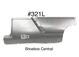 321L 1952 1953 1954 Ford Two 2 Door Left Hand Driver Side Lower Front Quarter Panel Ribbed