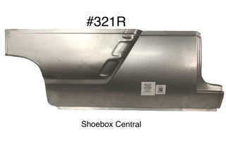 321R 1952 1953 1954 Ford Two 2 Door Right Hand Passenger Side Lower Front Quarter Panel Ribbed