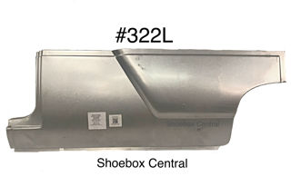 322L 1952 1953 1954 Ford Left Hand Driver Side Lower Front Quarter Panel Smooth