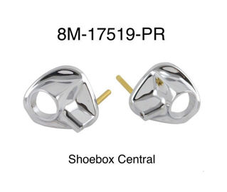 8M-17519-PR 1949 1950 1951 Mercury Windshield Wiper Chrome Bezel Spray Washer Nozzle