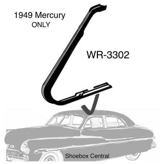 WR-3302 1949 Mercury Front Vent Wing Window Rubber Seal Weatherstripping