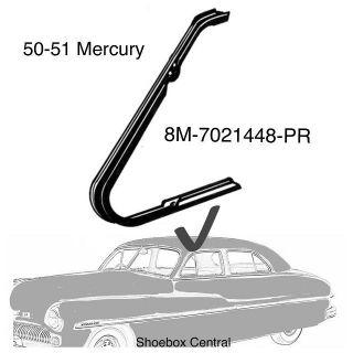 8M-7021448-PR 1950 1951 Mercury Front Vent Wing Window Rubber Weatherstripping Seals