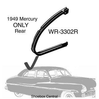 WR-3302R 1949 Mercury 4 Door Rear Door Vent Wing Window Rubber Weatherstripping Seals