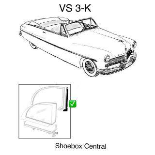 VS 3-K 1949 1950 1951 Mercury Convertible Vertical Front Edge Quarter Window Seal Rubber Weatherstripping