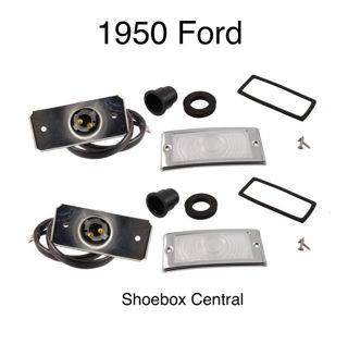 0A-13200-KIT 1950 Ford Park Parking Light Turn Signal Indicator Assemblies Kit Set Pair