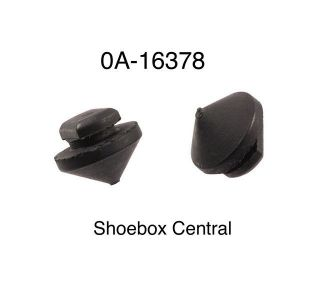 0A-16378 1950 1951 Ford Gas Door Rubber Bumpers Pair