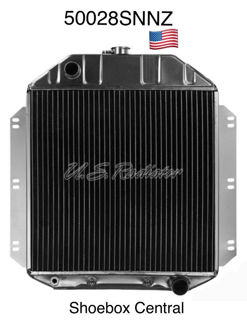 50028SNNZ 1949 1950 1951 1952 1953 Ford Chevy Small Block 4 Core Radiator New