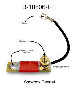 12 volt to 6 volt voltage reducer for gauges