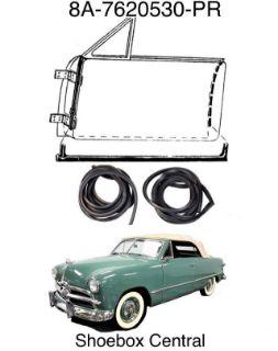 8A-7620530-PR 1949 1950 1951 Ford Convertible Victoria Rubber Door Weatherstrip