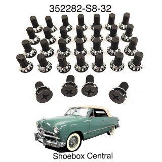 352282-S8-32 1949 1950 1951 Ford Shoebox Door Hinge Screw Hardware Kit
