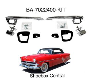 BA-7022400-KIT 1952 1953 1954 Ford Outside Exterior Door Handle Kit Complete