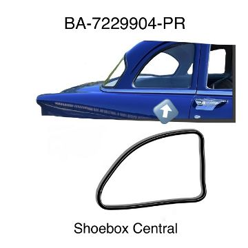 BA-7229904-PR 1952 1953 1954 Ford Business Coupe Quarter Window Rubber Seals Weatherstripping
