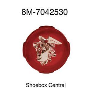 8M-7042530 1949 Mercury Trunk Deck Boot Lid Handle Cover Plastic Emblem Ornament Badge Medallion