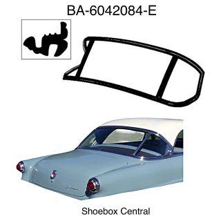 BA-6042084-E 1952 Ford Crestline Victoria 3 Piece Back Window Rubber Seal Weatherstrip