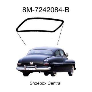 8M-7242084-B 1950 Mercury Back Glass Rear Window Rubber Seal Weatherstripping