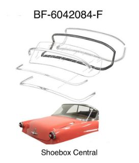 BF-6042084-F 1952 1953 Ford Victoria One Piece Back Rear Window Glass Weatherstripping Rubber Seal