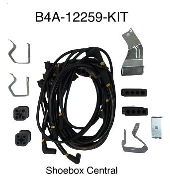 B4A-12259-KIT 1954 1955 1956 1957 1958 1959 1960 1961 1962 1963 1964 Ford Y-Block Spark Plug Ignition Wire Kit